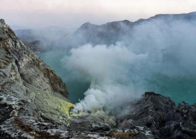 Le cratère vert
